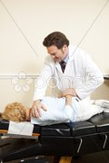 Chiropractor Adjustment with Copyspace Stock Photos