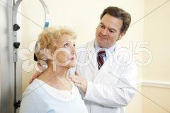 Chiropractor Treats Whiplash Stock Photos