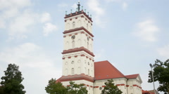 Stadtkirche and Marktplatz in Neustrelitz Stock Footage