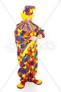 Clown Twisting Balloon Animal Stock Photos