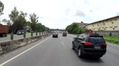 Moving Vehicle shot overtaking cars on free way Stock Footage