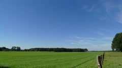 Farmland in Dutch landscape, time lapse Stock Footage