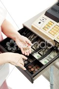 Cash Register Drawer Vertical Kuvituskuvat