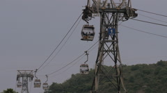 Cable car ride in Hong Kong Stock Footage