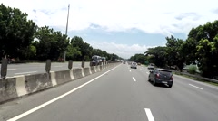 Moving Vehicle shot overtaking cars on free way Stock Footage
