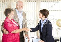 Seniors Meeting Financial Advisor Kuvituskuvat