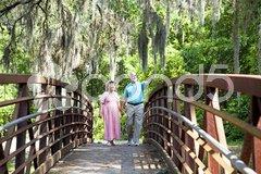 Seniors on a Stroll Stock Photos