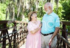 Vacation Seniors - Laughter Stock Photos