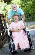 Senior Couple - Disability Stock Photos