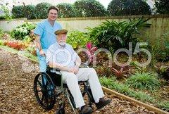 Nursing Home - Walk in the Garden Stock Photos
