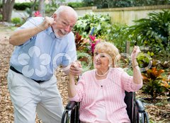 Seniors Conquering Adversity Stock Photos