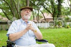 Spiritual Senior Man Stock Photos