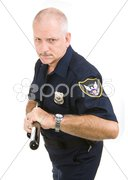 Policeman - Aggressive Stock Photos