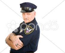 Policeman Serious and Sexy Stock Photos