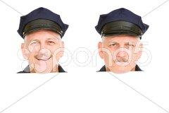 Police Head Design Elements Stock Photos