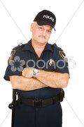 Police Officer Grumpy Stock Photos
