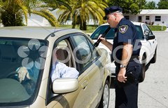 Police - Searching with Flashlight Stock Photos