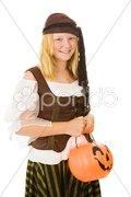 Halloween Pirate Girl Stock Photos
