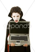 Halloween Vampire with Message Stock Photos