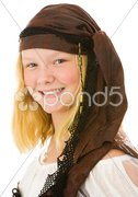 Pretty Pirate Portrait Stock Photos