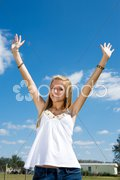 Blond Teen Freedom Stock Photos