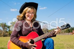 Country Music Cowgirl Stock Photos