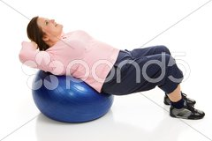 Pilates - Tightening Abdominals Stock Photos