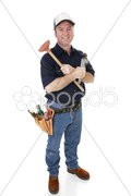 Friendly Plumber Complete Stock Photos