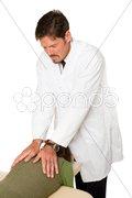 Chiropractor Working Stock Photos