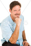 Handsome Man with Roguish Grin Stock Photos