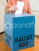 Election - Casting Ballot Stock Photos