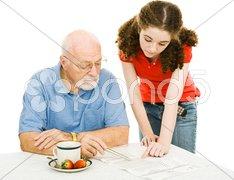 Helping Grandpa Stock Photos