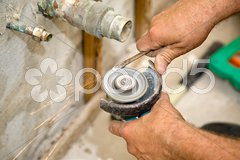 Plumbing - Sparks Fly Stock Photos