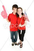 Teen Couple - Loyal Supporters Stock Photos