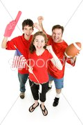Crazed Football Fans Stock Photos