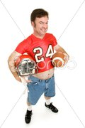 High School Football Star at 40 Stock Photos