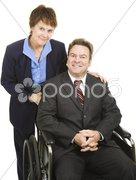Business Partners - Disability Stock Photos