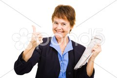 Job Search Going Well Stock Photos