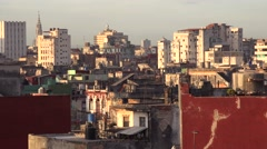 Good establishing shot of Havana Cuba with decaying buildings and skyline. Stock Footage