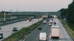 Traffic on German highway A3 Stock Footage