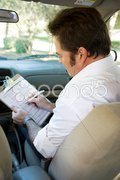Driving Test Checklist Stock Photos