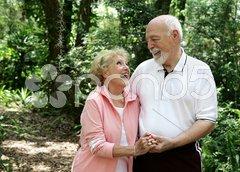 Active Senior Couple with Copyspace Stock Photos