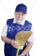 Senior Worker - Disappointment Stock Photos