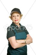 Senior Worker - Personal Pride Stock Photos