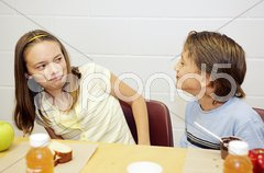 School Lunch - Disgusted Stock Photos