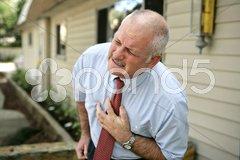 Mature Man - Heart Attack Stock Photos