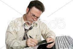 Balancing Checkbook Concentration Stock Photos