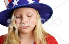 Stars Stripes and Sadness Stock Photos