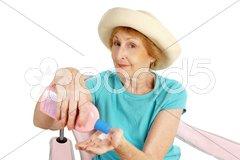 Summer Senior - Sun Protection Stock Photos