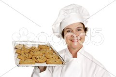 Chef & Toll House Cookies Stock Photos